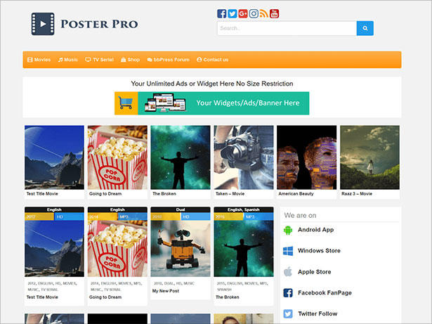 Best-Movie-Poster-WP-WooCommerce-Theme-2017