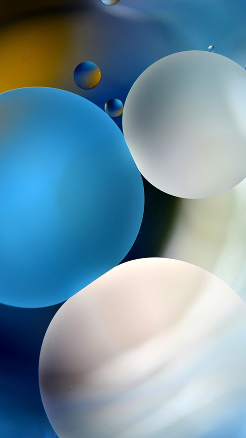 Bubbles-Apple-iPhone-7-Plus-&-Xiaomi-MiUI-9-Wallpaper