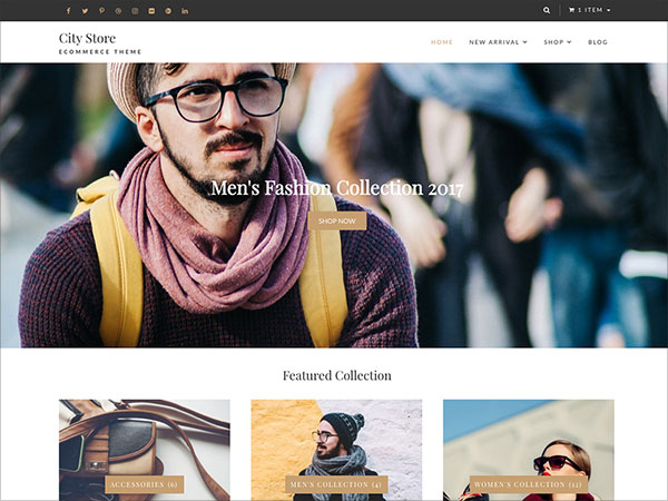 City-Store-free,-light-weight,-simple-and-clean-E-commerce-Theme