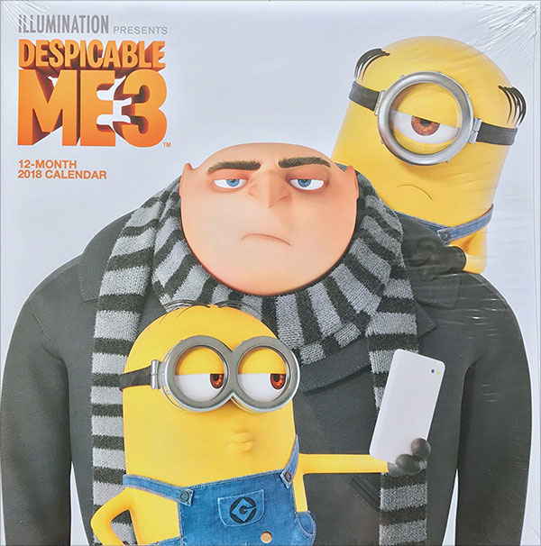 Despicable-Me-Minions-3-2018-Calendar-Kids-Room-Decor