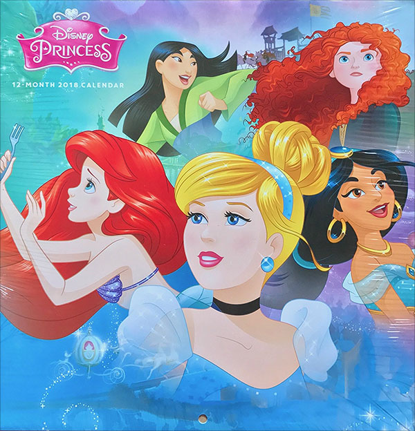 Disney-Princess-Kids-2018-Calendar-Kids-Room-Decor