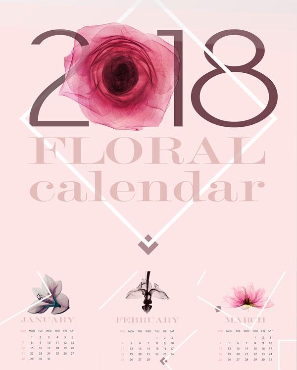 Floral-Calendar-Design-2018-Idea