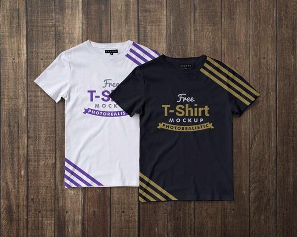 Free-Premium-Regular-Fit-Half-Sleeves-T-shirt-Mockup-PSD