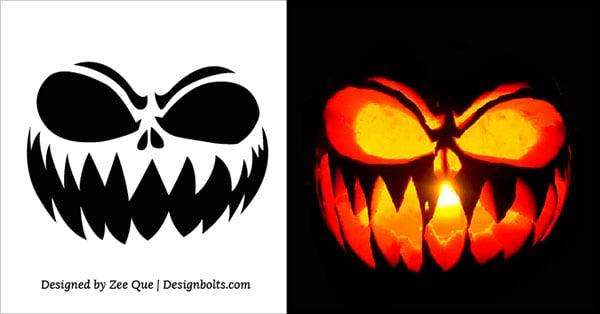 Free Scary Halloween Pumpkin Carving Stencils, Patterns & Ideas 2017 (1)