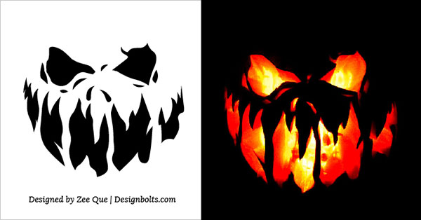 free scary halloween pumpkin carving stencils patterns ideas 2017 - Free Scary Halloween Pumpkin Carving Patterns