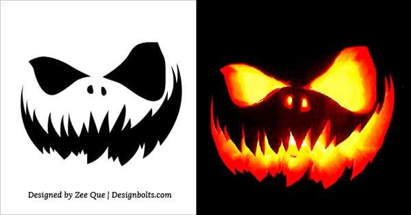 Free Scary Halloween Pumpkin Carving Stencils, Patterns & Ideas 2017 (3)