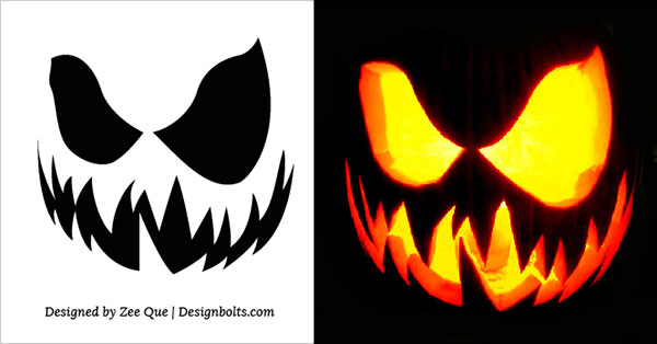 Free Scary Halloween Pumpkin Carving Stencils, Patterns & Ideas 2017 (4)
