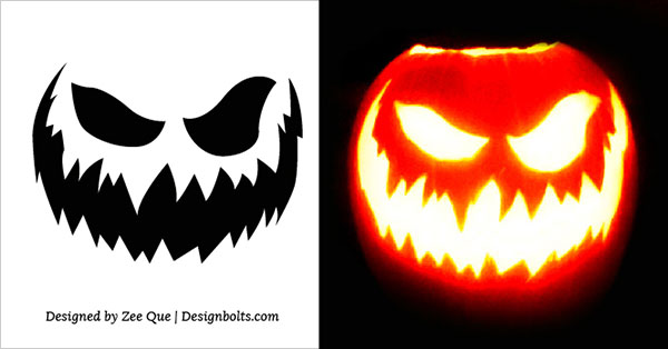 Free Scary Halloween Pumpkin Carving Stencils, Patterns & Ideas 2017 (5)