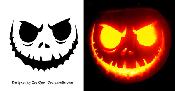 Free Scary Halloween Pumpkin Carving Stencils, Patterns & Ideas 2017 (6)