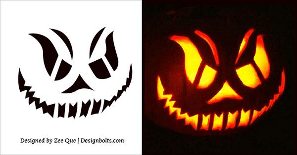 Free Scary Halloween Pumpkin Carving Stencils, Patterns & Ideas 2017 (9)
