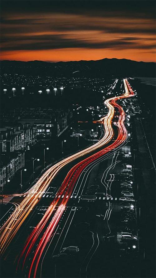 Night-View-Apple-iPhone-7-Plus-&-Xiaomi-MiUI-9-Wallpaper