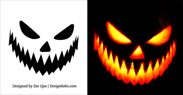30 free scary halloween pumpkin carving stencils patterns Architecture pumpkin stencils