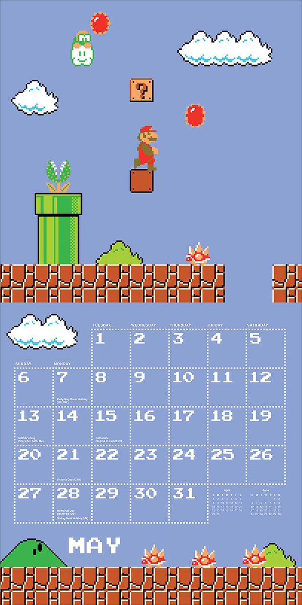 Super-Mario-Bros-2018-Wall-Calendar-3