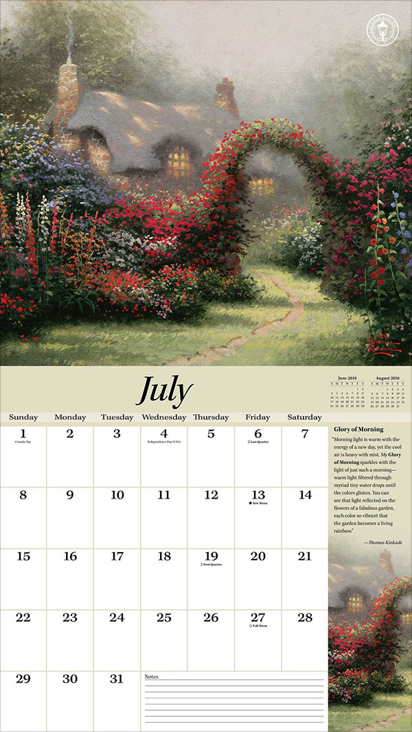 Thomas-Kinkade-Special-Collector's-Edition-2018-Deluxe-Wall-Calendar-Peaceful-Retreat-3