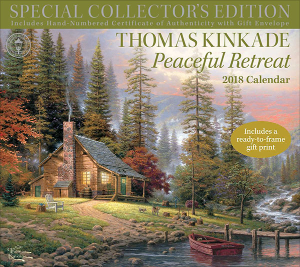 Thomas-Kinkade-Special-Collector's-Edition-2018-Deluxe-Wall-Calendar-Peaceful-Retreat-4