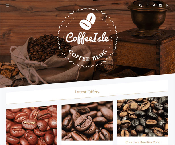 CoffeeIsle-classy-WordPress-theme-for-online-shops-and-blogging