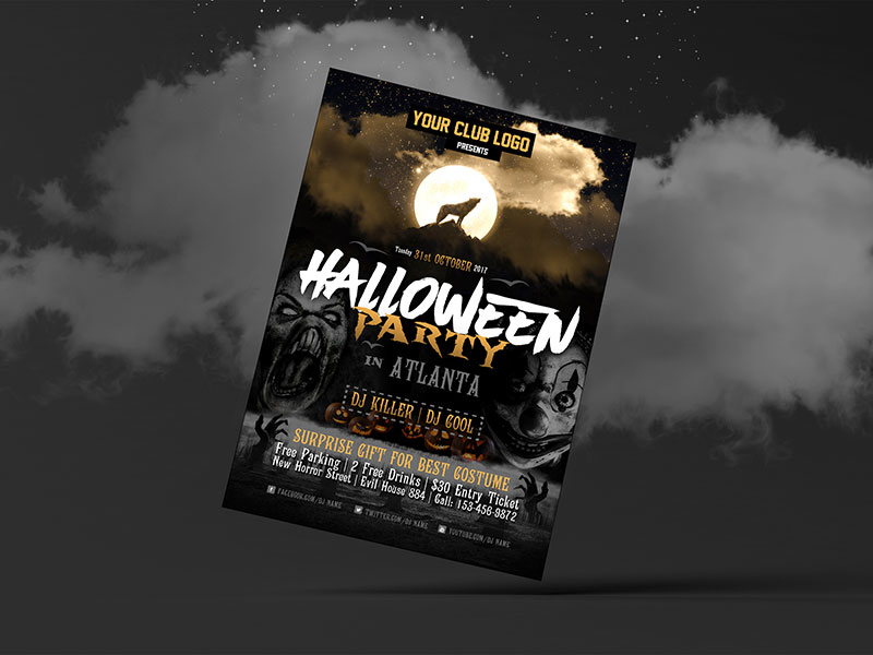 Free-Halloween-Party-Costume-Flyer-Design-Template-2017-3