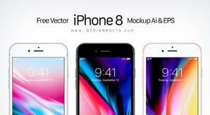 Free-Vector-Apple-iPhone-8-Ai-&-EPS-6