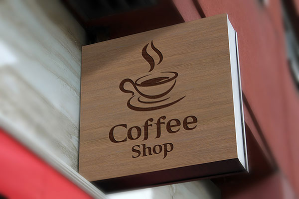 Free-Wall-Mounted-Coffee-Shop-Sign-Board-Mockup-PSD-2