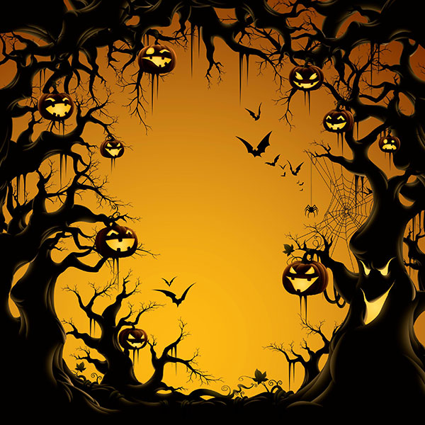 Halloween-Pumpkin-Trees-Wallpaper
