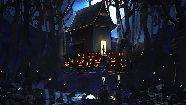 Halloween-Scary-House-Background