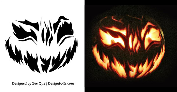 10 free printable scary pumpkin carving patterns stencils ideas 2014 rh designbolts com scary pumpkin carving ideas easy scary halloween carving patterns free