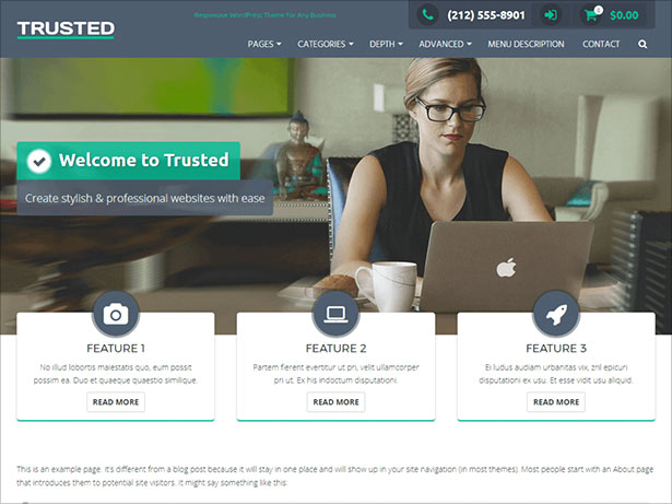 Trusted-WordPress-theme-simple-yet-elegant-fully-responsive-design