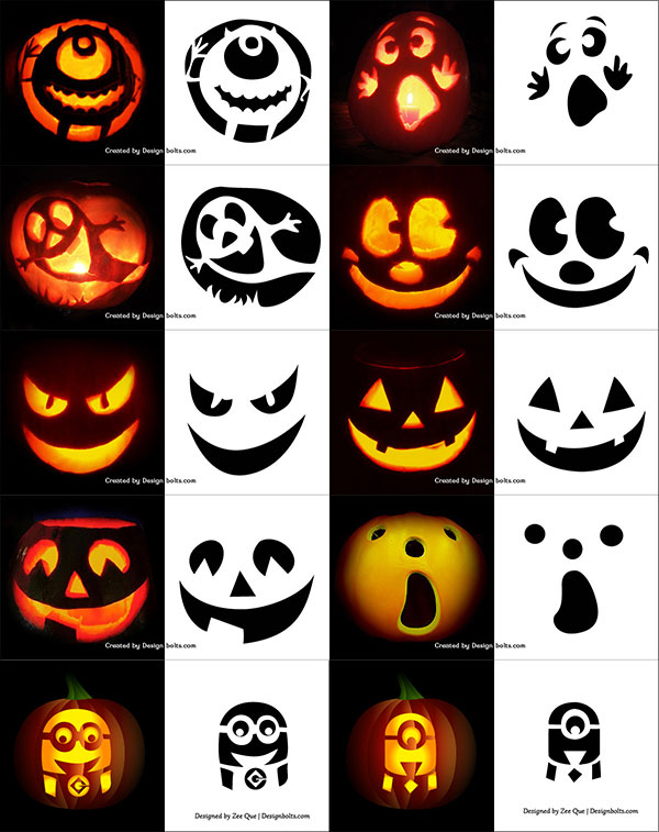 picture about Printable Jack O Lantern Faces called 290+ Totally free Printable Halloween Pumpkin Carving Stencils