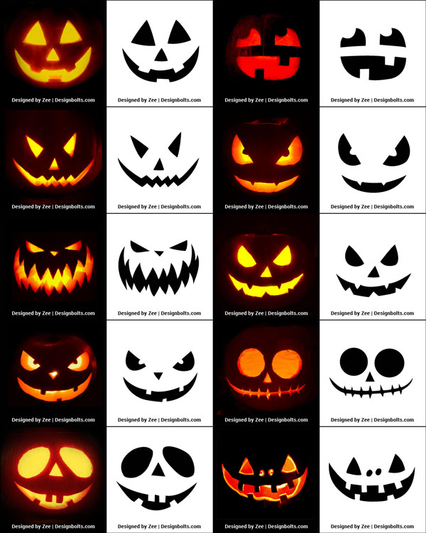 10 Free Easy Pumpkin Carving Stencils Patterns