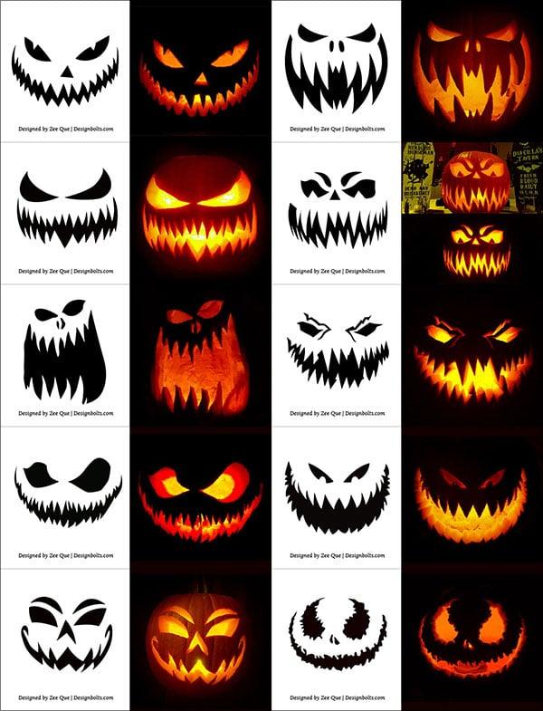 290+ Free Printable Halloween Pumpkin Carving Stencils