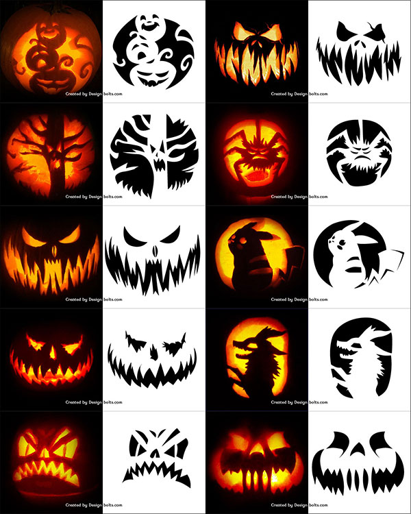photo regarding Printable Pumpkin Templates known as 290+ No cost Printable Halloween Pumpkin Carving Stencils