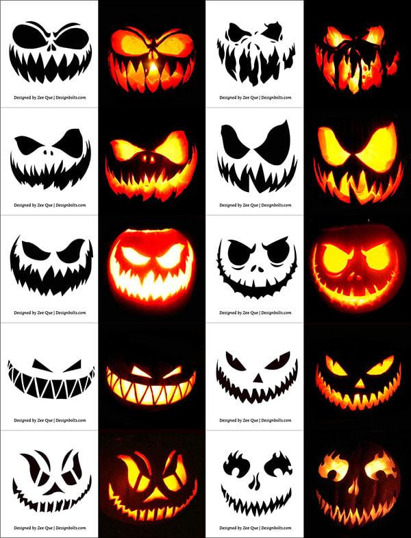 290 Free Printable Halloween Pumpkin Carving Stencils Patterns