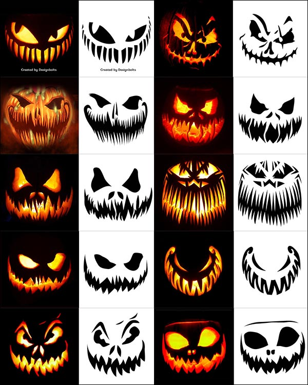 10-Free-Scary-Halloween-Pumpkin-Carving-Stencils,-Patterns-&-Ideas-2018-Jack-O-Lantern-Faces-&-Images