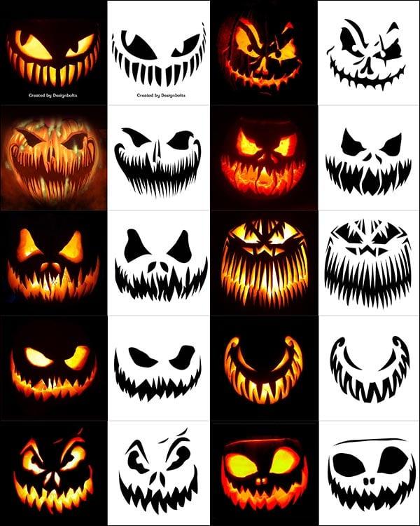 Jack O Lantern Pumpkin Carving Designs