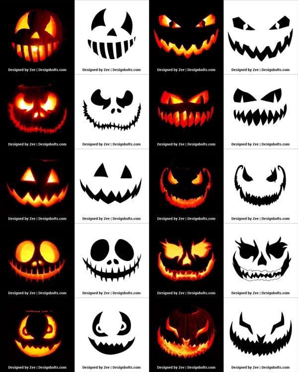 290 Free Printable Halloween Pumpkin Carving Stencils