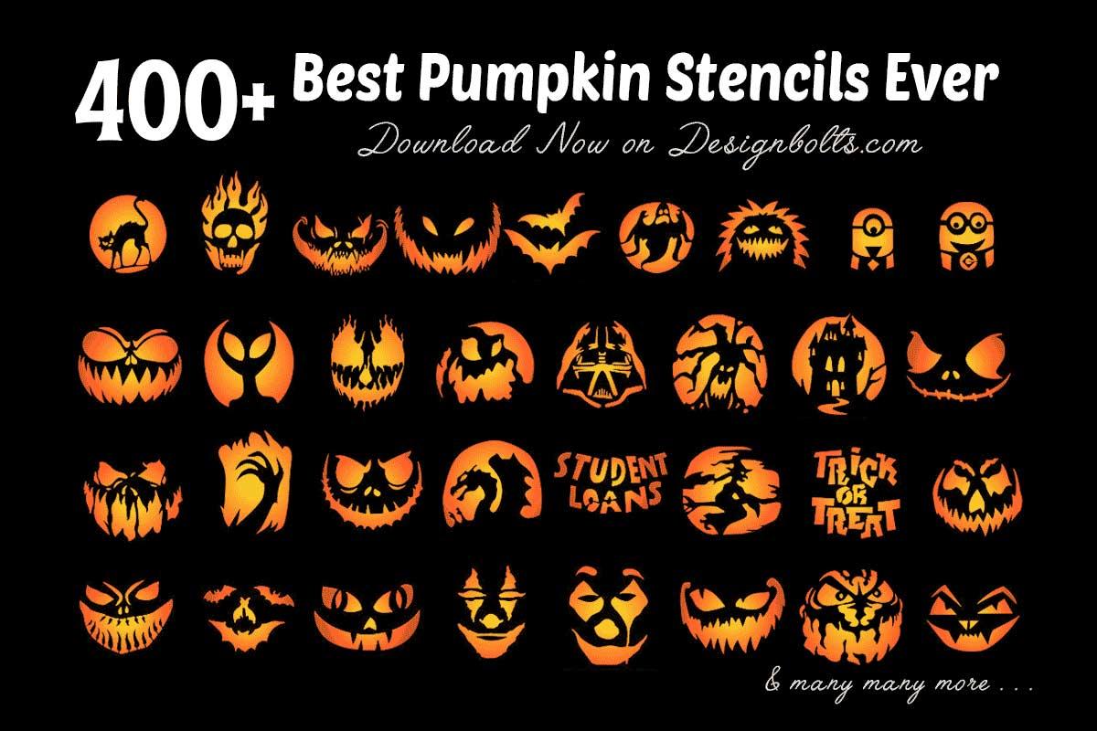 420 Free Printable Halloween Pumpkin Carving Stencils Patterns Designs Faces Ideas