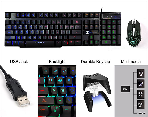 CHONCHOW-LED-Backlit-Usb-Wired-Keyboard-and-Optical-Mouse-Mechanical-Keyboards-Feel-with-Mutilmedia-Keys-Character-Illuminated-for-PC-Mac-Games-Office