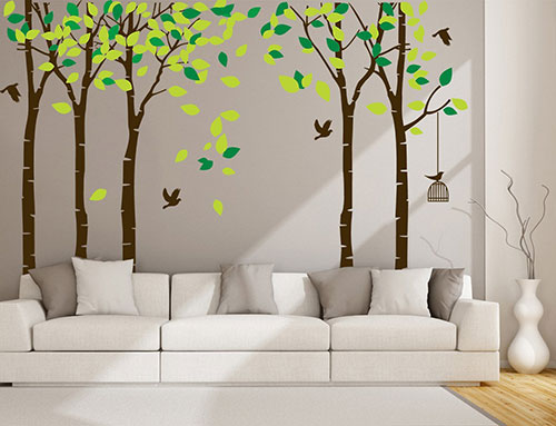 CaseFan-5-Trees-Wall-Stickers-Forest-Mural-Paper-for-Bedroom-Kid-Baby-Nursery-Vinyl-Removable-DIY