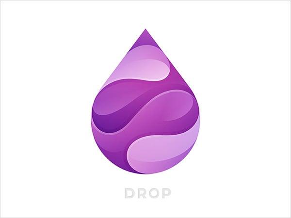 Creative-Purple-Water-drop_logo-Design