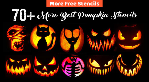 Free-Halloween-Printable-Pumpkin-Carving-Stencils,-Patterns,-Designs,-Faces-&-Ideas