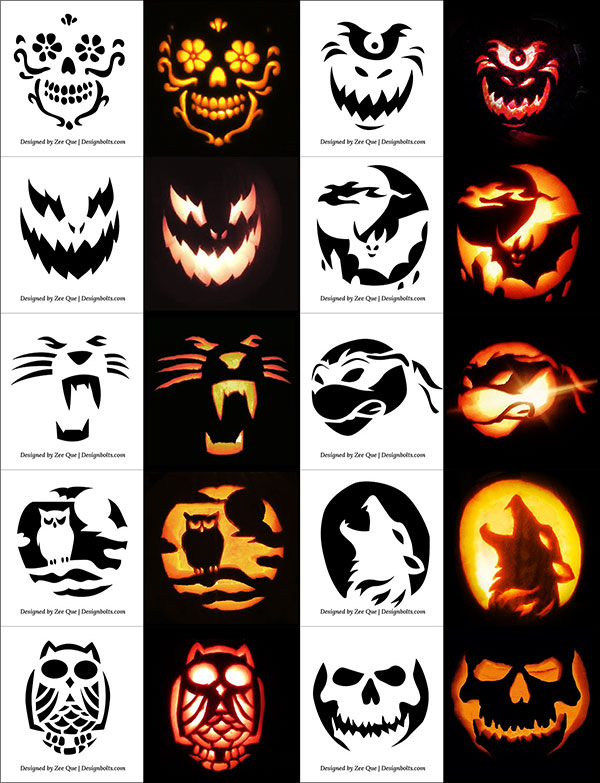 Free-Halloween-Scary-&-Cool-Pumpkin-Carving-Stencils-Patterns-Templates-Ideas