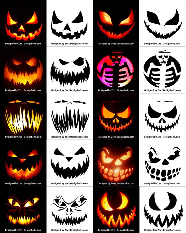 Free-Scary-Halloween-Pumpkin-Carving-Stencils,-Patterns-&-Ideas-2018-Jack-O-Lantern-Faces,-Designs-&-Images-2