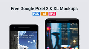 Free-Vector-Google-Pixel-2-&-Pixel-2-XL-Mockup-in-PSD,-Ai-&-EPS