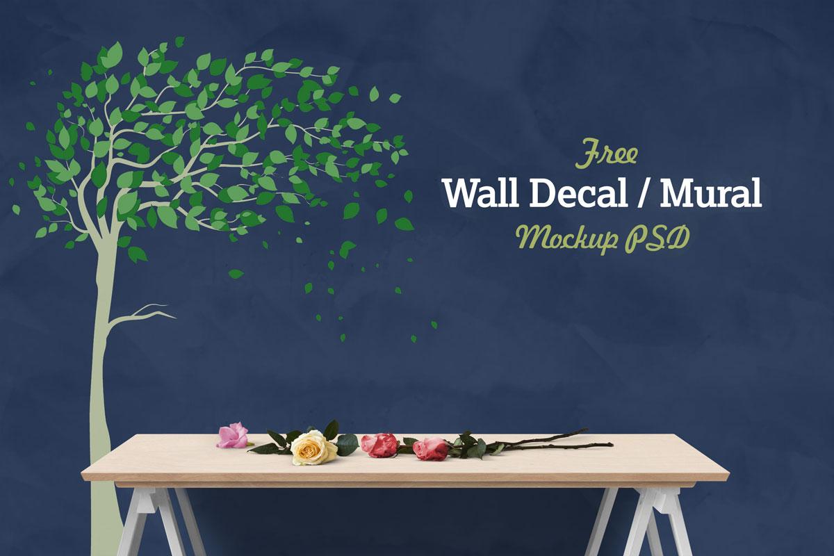 Free-Vinyl-Wall-Decal-Decal-Sticker-Art-Mockup-PSD-2