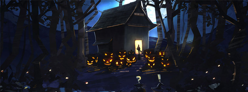 Scary happy halloween facebook timeline cover