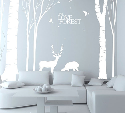 N.SunForest-Giant-White-Tree-Vinyl-Wall-Decals-Animal-Deer-Elk-Birds-the-Love-Forest-Stickers-Baby-Nursery-Home-Bedroom-Decor-Art-Murals---6.5ft