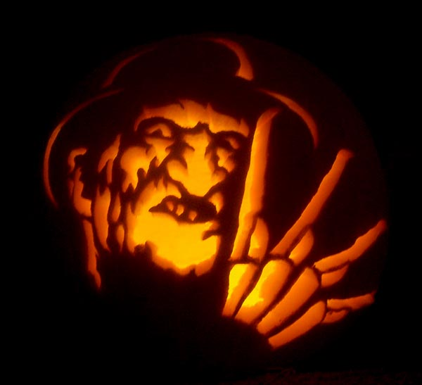 Pumpkin-Carving-Freddy-Krueger
