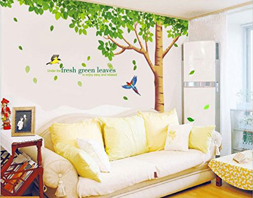 Rainbow-Fox-Large-Pink-Sakura-Flower-Cherry-Blossom-Tree-Wall-Sticker-Decals-PVC