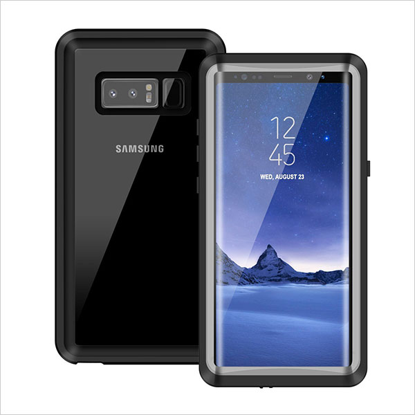 Samsung-Note-8-Waterproof-Case--Transparent-Protective-Cover