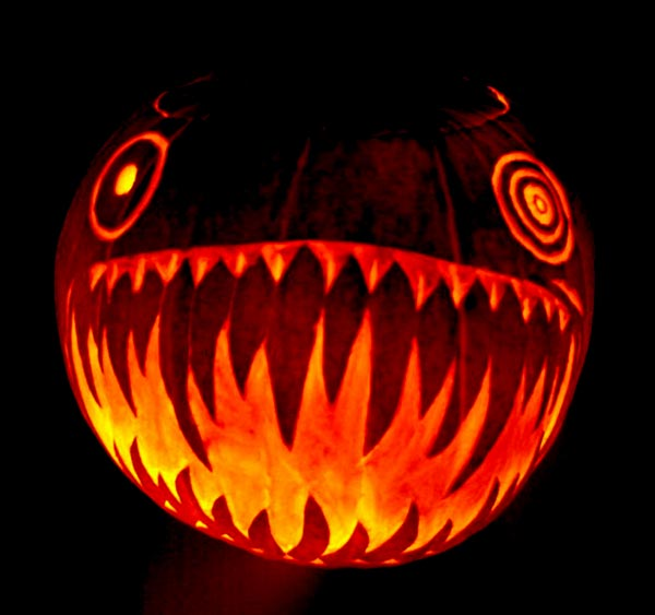 Scary halloween pumpkin carving face ideas designs